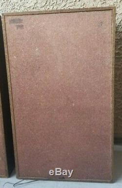 Vintage Silver Marshall Kms-880 Debout Etage 2 Pieds Audiophile Dj Président Paire