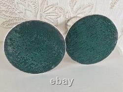 Vintage Solid Silver Paire Orné Solide Chandeliers En Argent