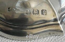 Vtg 1916 Paire De Vases À Bourgeon Joseph Gloster Ltd En Argent Massif Art Nouveau Déco 301g