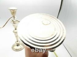 Vtg Fisher Sterling Silver Convertible Candelabra 376 Candle Holder Paire Ajuste