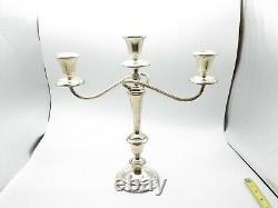 Vtg Gorham Sterling Silver Convertible Candelabras 638 Paire Hauteur Réglable