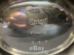 Vtg Robert Ensko, New York, Ny Sterling Silver Une Paire Sels Cellars 235 Gram